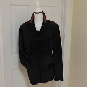 Gucci 100% Leather Suede Jacket 46